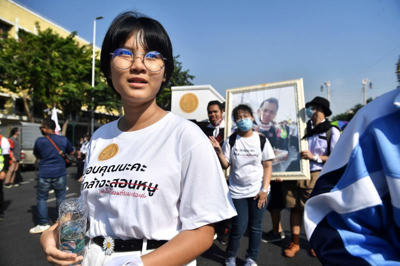 Teenage high school protest leader Benjamaporn