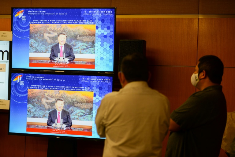 US President Donald Trump will follow Chinese President Xi Jinping in delivering a speech to the virtual Apec summit.