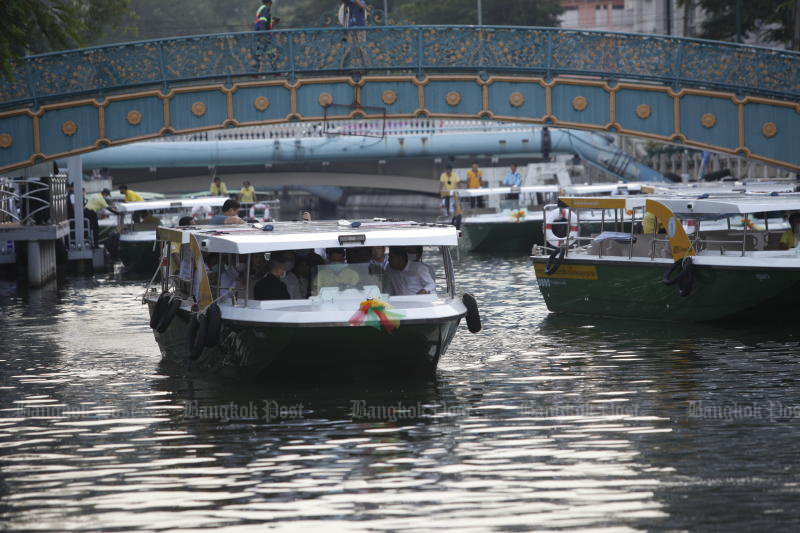 Electric boats to link Chao Phraya with train, MRT