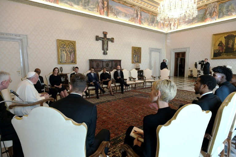 Pope Francis met with five NBA players engaged in the fight for racial justice at the Vatican on Monday and signalled his support for their efforts.