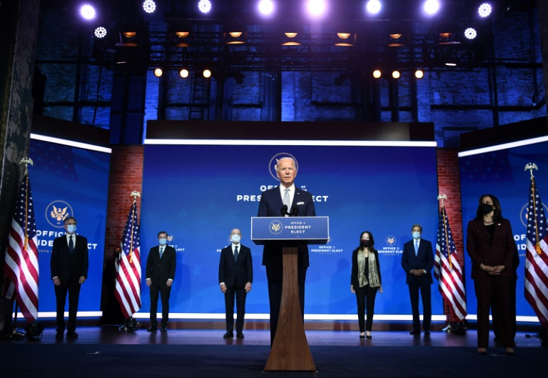 US President-elect Joe Biden presents some of his cabinet picks, and says his team is ready to