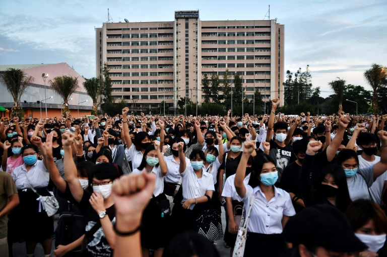 Student-led pro-democracy protests are testing Thailand's royal defamation law, one of the harshest in the world. (Photo:AFP)