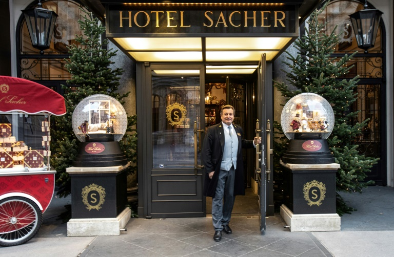 Vienna's Hotel Sacher is determined not to let fans of its world-famous chocolate cake go hungry. (AFP Photo)