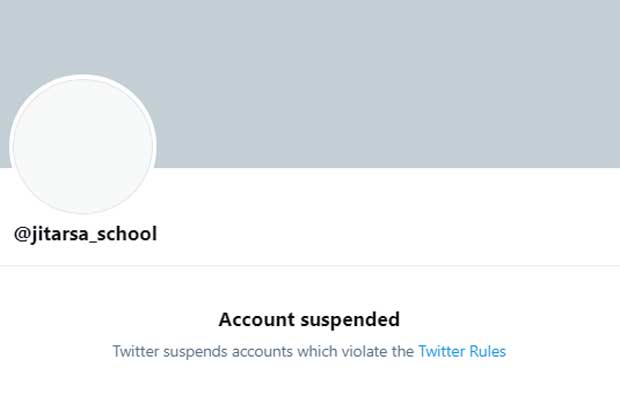 Royalist account suspended