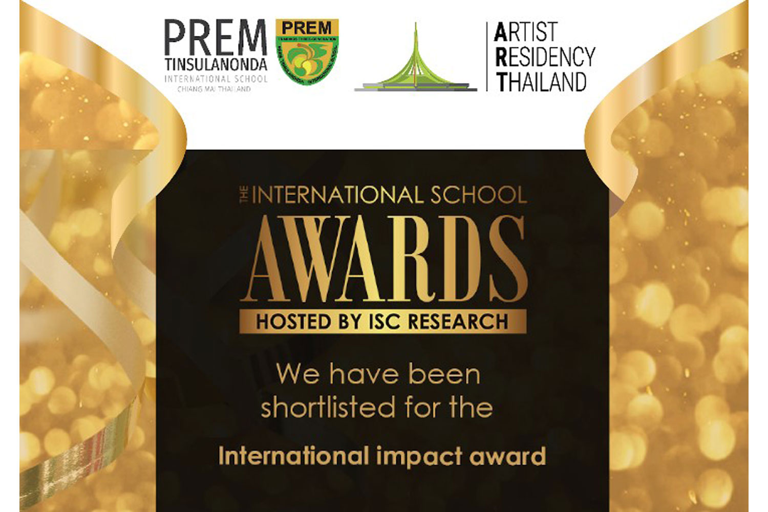 Prem International School Chiang Mai shortlisted for prestigious global award