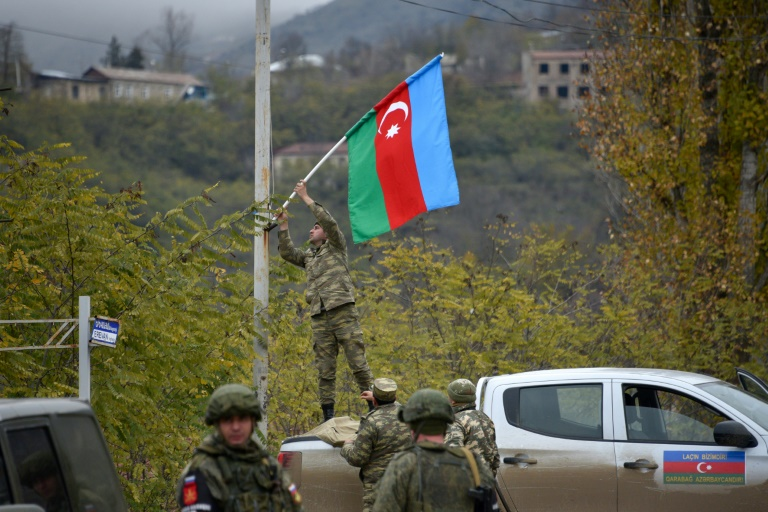 Azerbaijani forces raise flag in last district handed back by Armenia