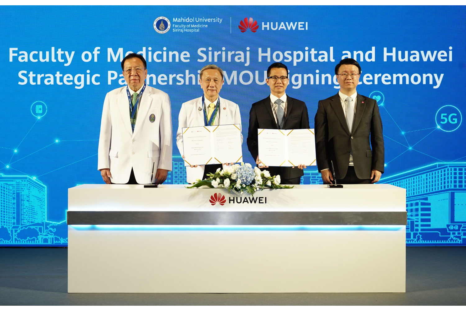Huawei and Siriraj Hospital sign MoU to develop 5G smart services powered by cloud and artificial intelligence
