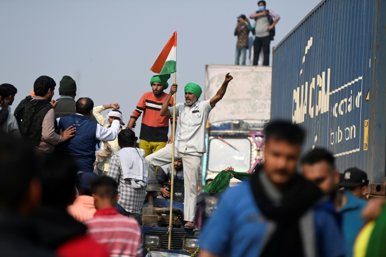 Tens of thousands of farmers have been camped on the outskirts of  New Delhi since Nov  27.