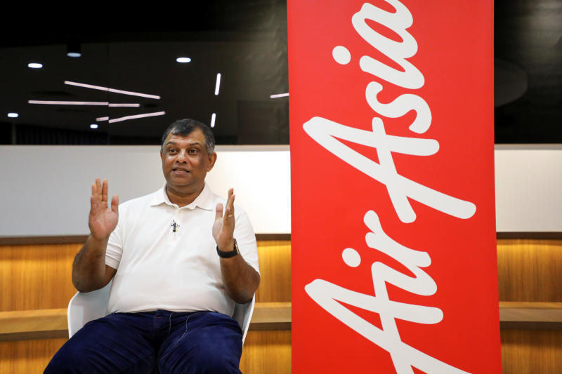 AirAsia Group CEO Tony Fernandes speaks during an interview with Reuters in Kuala Lumpur, Malaysia Sept 7, 2020. (Reuters file photo)