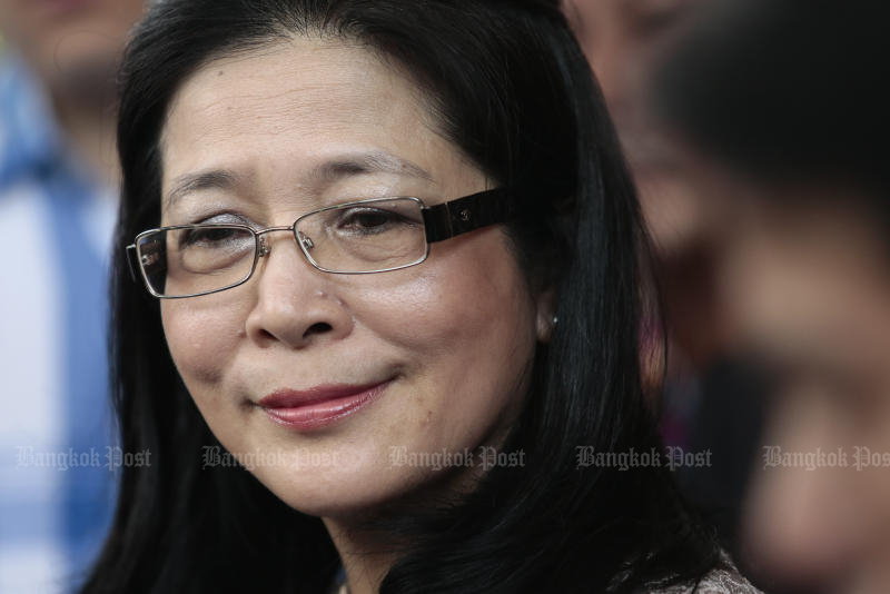 Khunying Sudarat Keyuraphan quits the Pheu Thai Party with other key figures -- Pokin Polakul, Watana Muangsook and Pongsakorn Annanopporn, who are close to her. (Bangkok Post file photo)