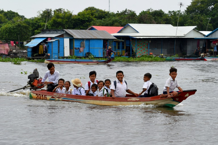 Floating villages on Cambodia's Tonle Sap have adapted to the ebb and flow of the lake for generations but falling water levels and disappearing fish are now threatening a traditional way of life.