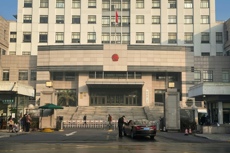 The Shanghai Pudong New District People's Court, where Chinese citizen journalist Zhang Zhan was sentenced to jail for four years on Monday.