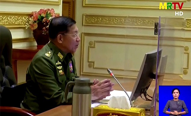 Myanmar's coup leader Min Aung Hlaing told the first meeting of his new government on Tuesday that it was inevitable the army would have to take power after its protests over alleged election fraud last year - which the electoral commission had dismissed, the army information service said. - REUTERS