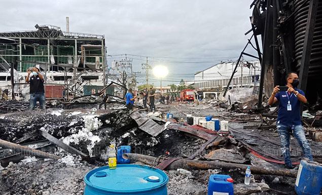 Bang Phli chemical fire under control