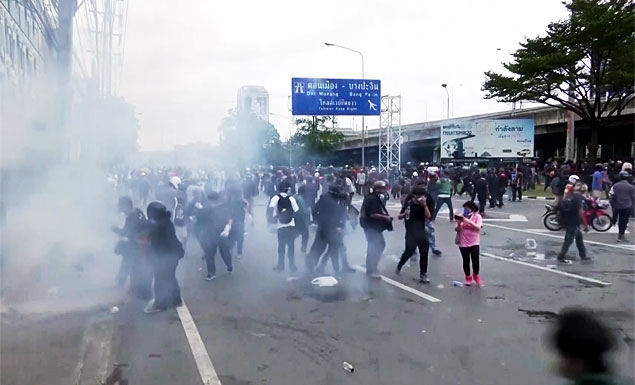 Police fire tear gas at protesters