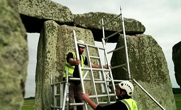 Major repairs begin at Stonehenge