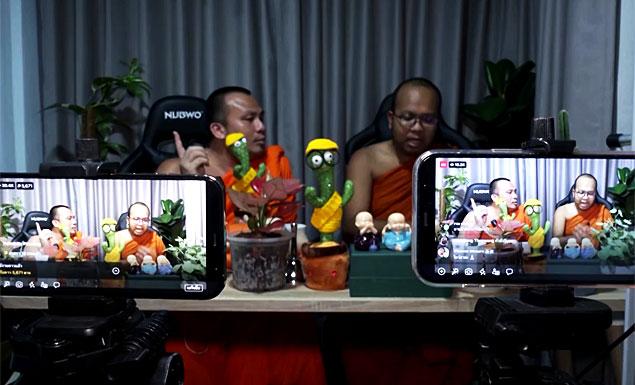 Monks turned social media stars