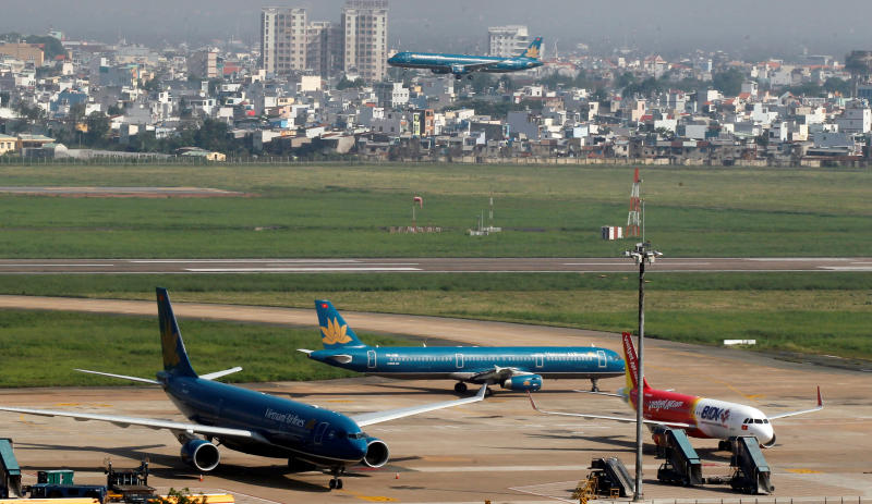 Tan Son Nhat airport serving Ho Chi Minh City will be used for domestic flights after a new airport, Long Thanh, is fully operational. (Reuters photo)