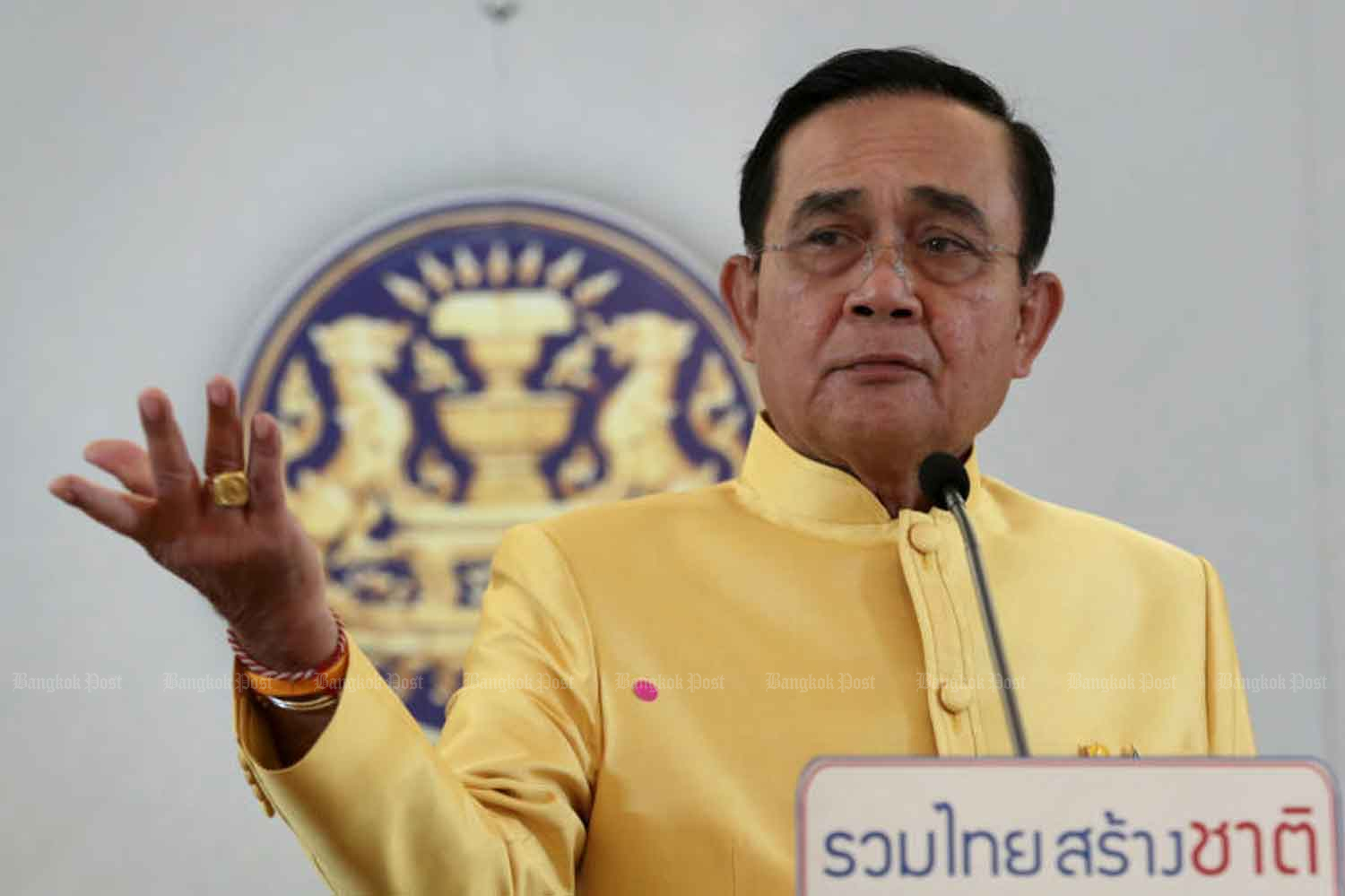 Prime Minister Prayut Chan-o-cha is targeted by the opposition in a censure debate over his handling of the coronavirus outbreak. (Bangkok Post photo)