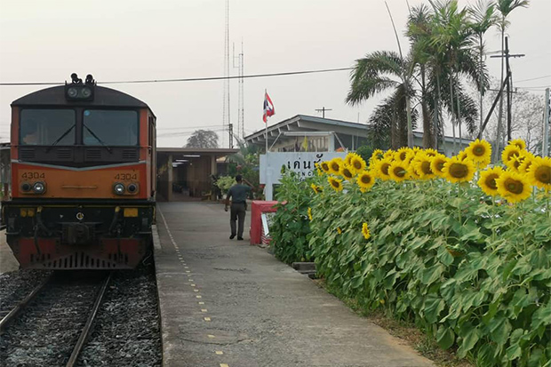 Den Chai station in Phrae will be the junction for a new train route to Chiang Khong district of Chiang Rai. (Photo from Den Chan station Facebook account)