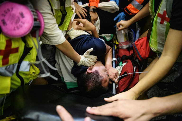 Fu Guohao, a reporter from China's mouthpiece Global Times, was attacked at Hong Kong airport by pro-democracy protesters