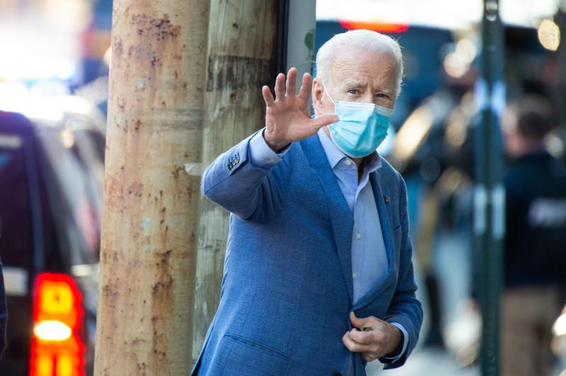 US President-elect Joe Biden arrives at the Queen in Wilmington, Delaware on Sunday. (AFP photo)