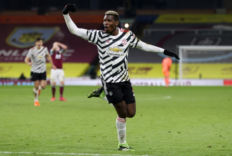 Pogback on top: Paul Pogba's winner at Burnley took Manchester United top of the Premier League for the first time in three years.