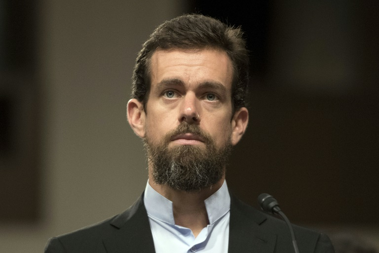 Twitter CEO Jack Dorsey, pictured in September 2018, says he believes the platform made the right decision to ban US President Donald Trump but that it sets a dangerous precedent. (AFP photo)