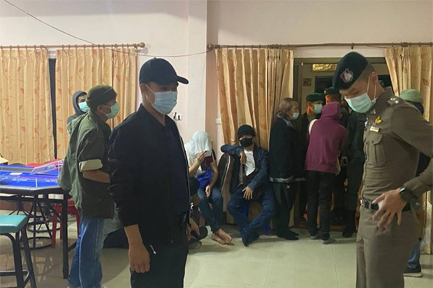 34 gamblers arrested in Chiang Mai raid