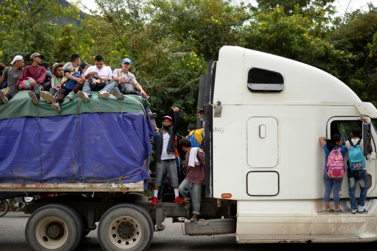 Honduran migrants on journey to USA, head toward Guatemalan border