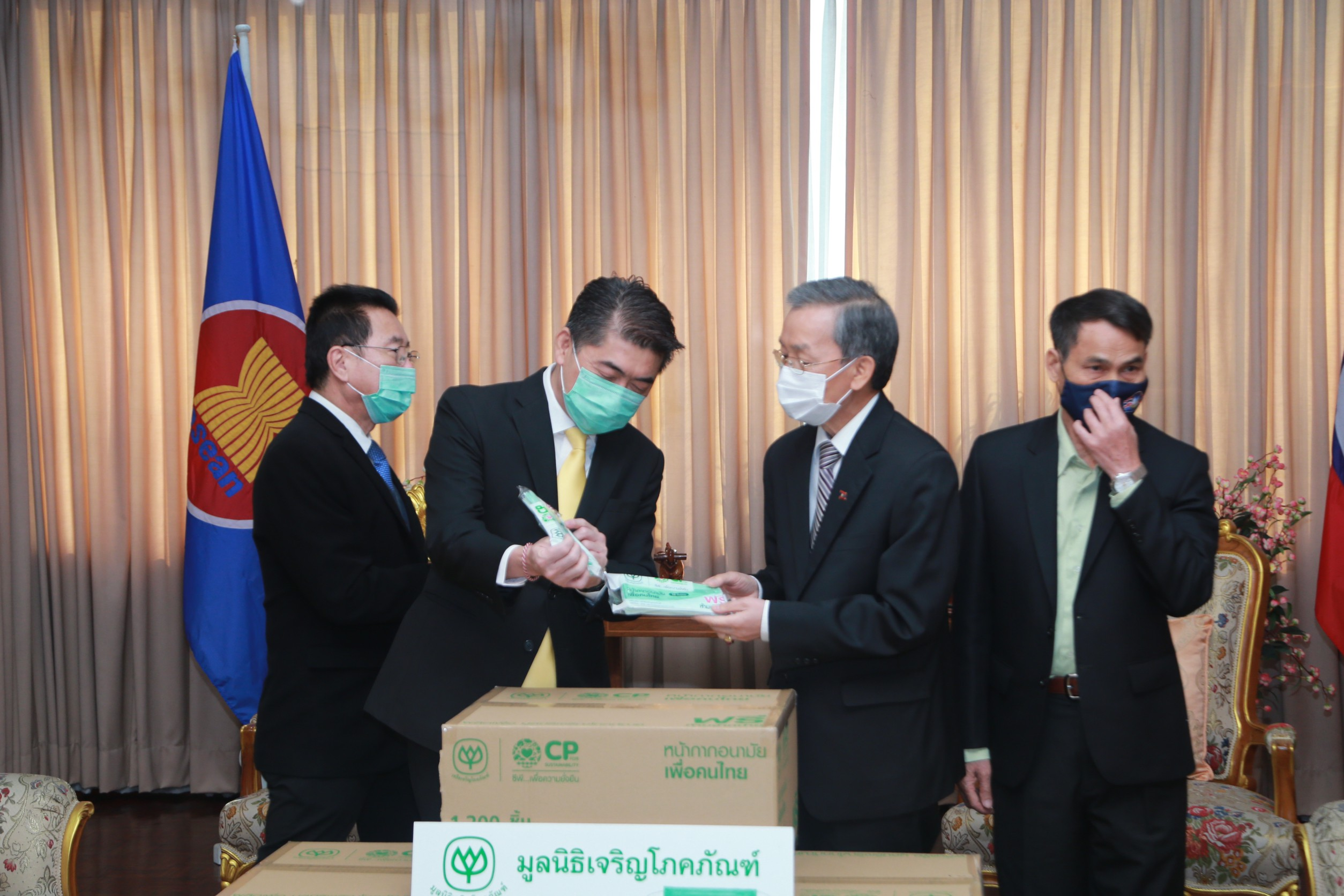 CP Group – CP Foods donate 90,000 more of surgical masks for foreign workers