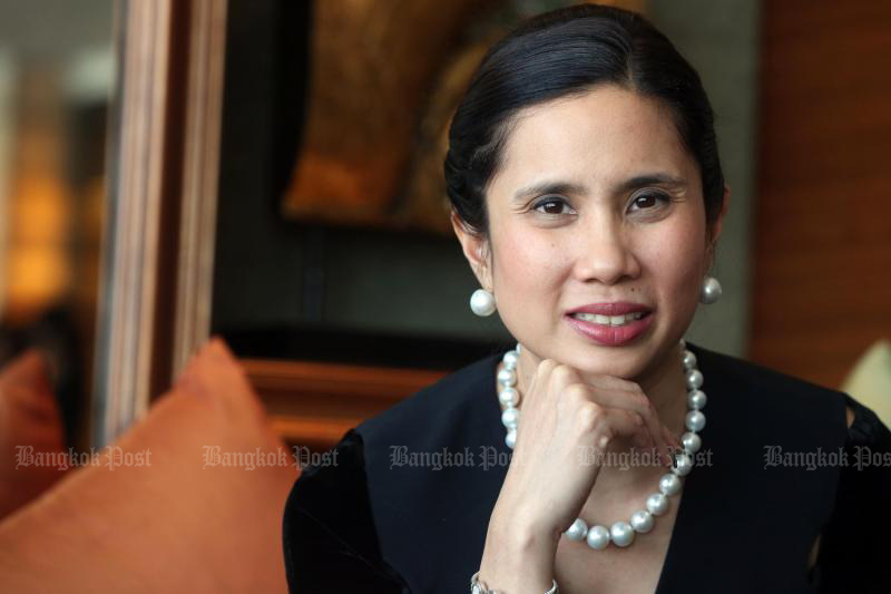 Taya Teepsuwan plans to run for governor of Bangkok when the city elections are called, with or without backing from her cabinet minister husband's Palang Pracharath Party. (Bangkok Post file photo)