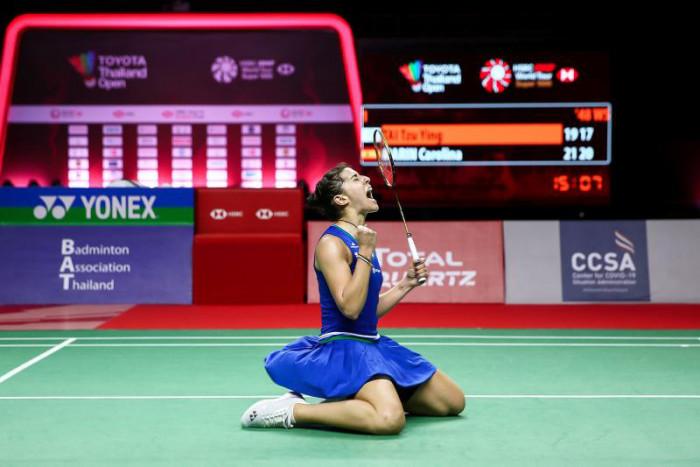Marin claims back-to-back badminton titles in Bangkok