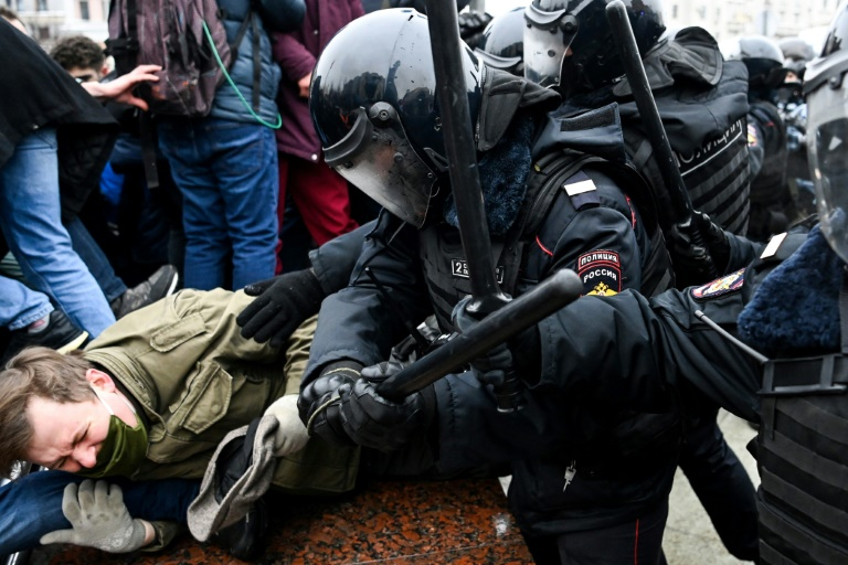 Russia police violence in spotlight after 3,500 protesters detained
