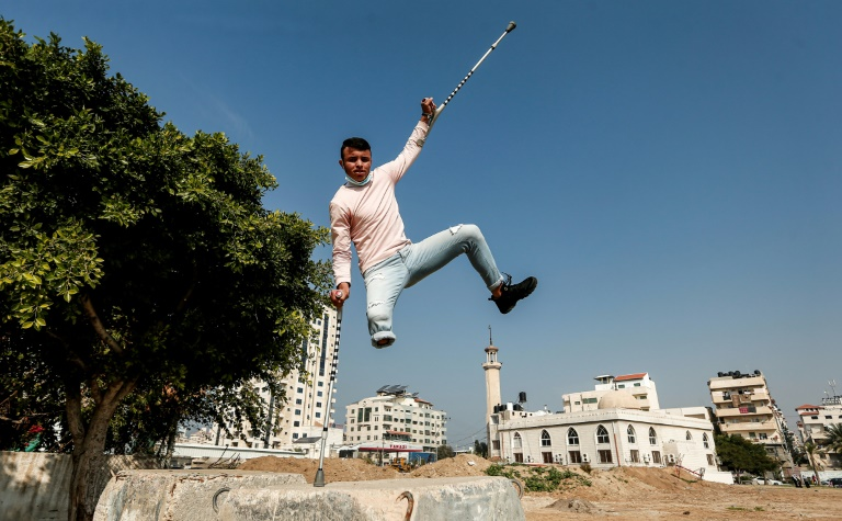 In Gaza, parkour brings youngsters a taste of freedom