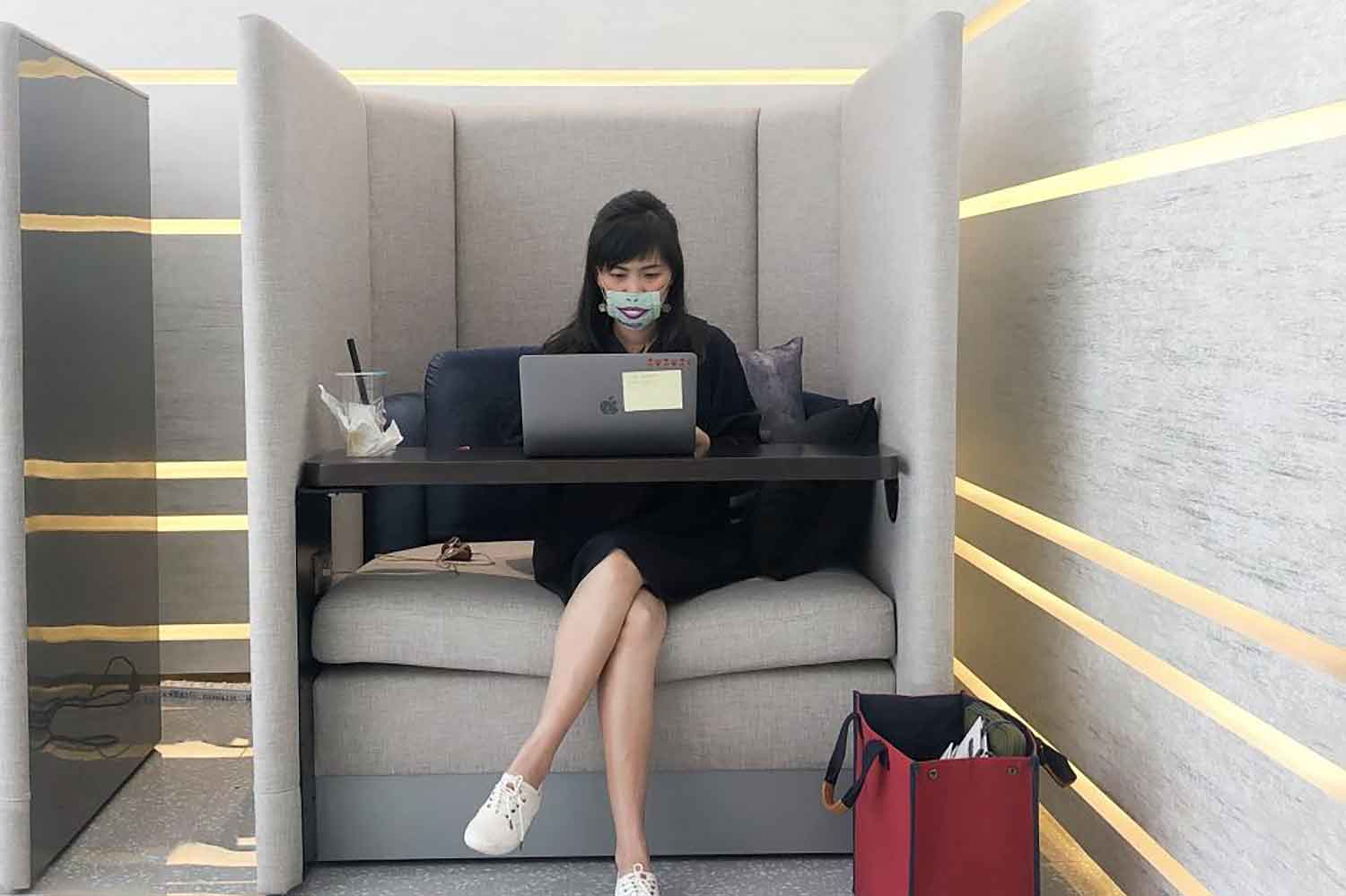 Private cocoon seating in co-working rooms or common areas is a feature AP Thailand advises developers add to condos.