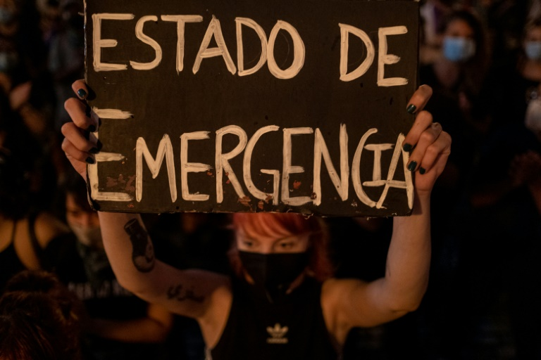 Puerto Rico's declaration of a state of emergency over violence against women has long been sought by advocates, including at the September 2020 protest seen here.