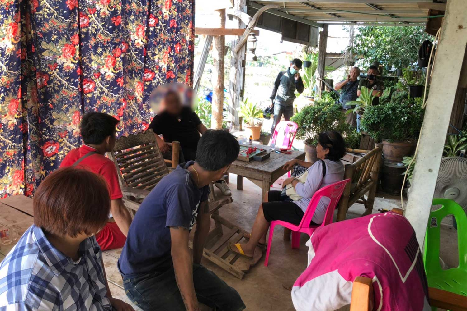 Two cops among 9 gamblers caught during raid on house in Phichit
