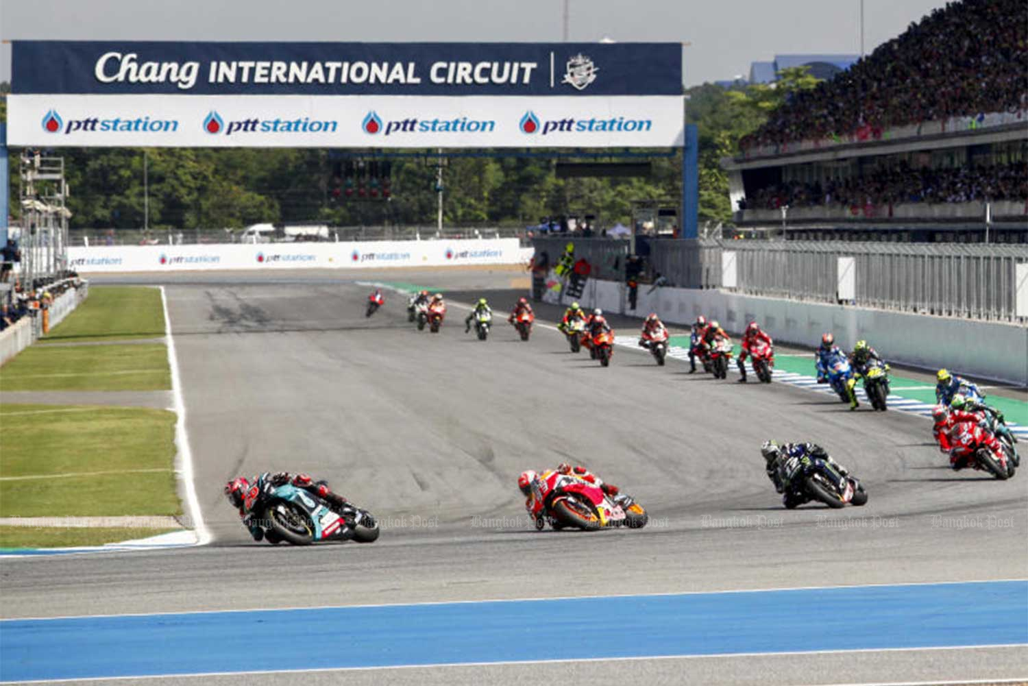 MotoGP at the Chang International Circuit, Buri Ram, on Oct 6, 2019. (File photo)