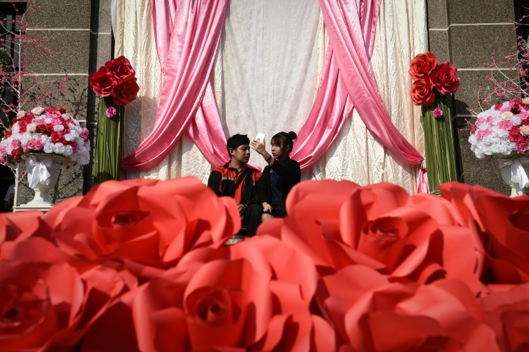 Valentine's Day is typically considered an auspicious day for couples to tie the knot in Thailand.