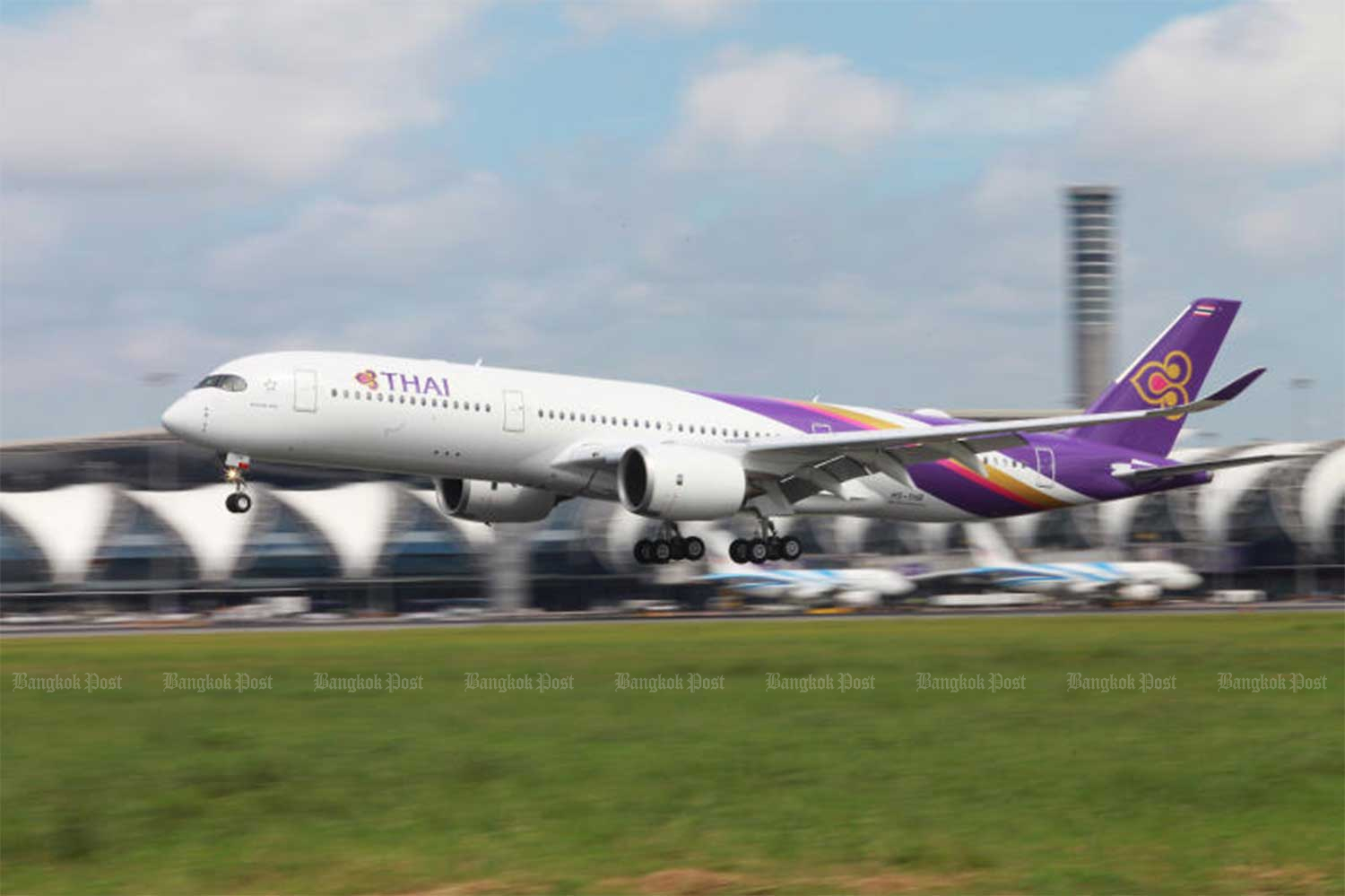 Thai Airways International will carry the first 200,000 doses of Covid-19 vaccine to Thailand, from China's Sinovac Biotech, on Feb 24. (File photo)