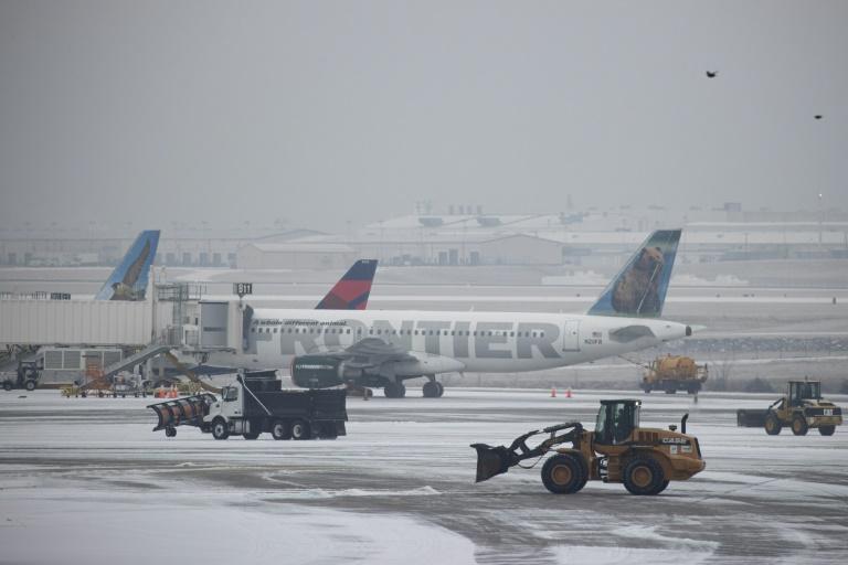 Snow removal vehicles at Nashville International Airport.