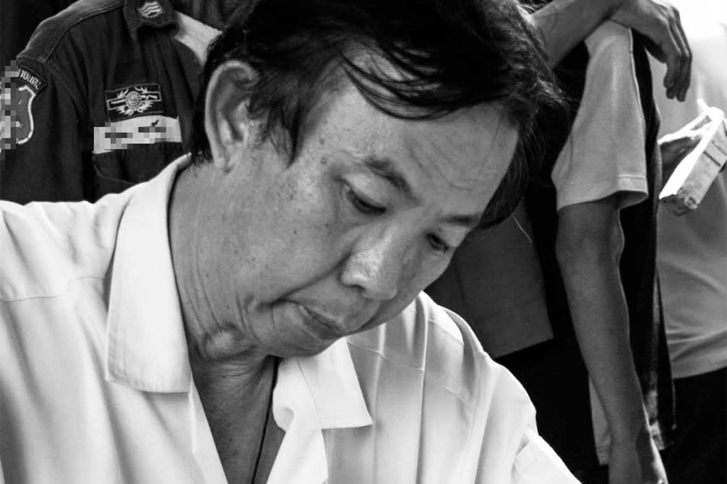 Dr Panya Hanphanitphan, 66, of Maha Sarakham province, died early on Thursday morning  from a Covid-19 infection. He was the first Thai physician killed by the disease. (Photo: from @jangkhao.sarakham Facebook page)