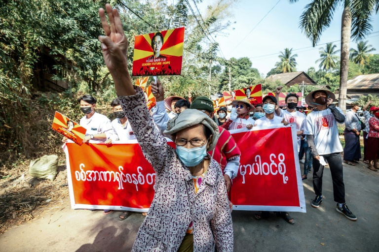 Thousands gathered across Myanmar to protest against the military coup.