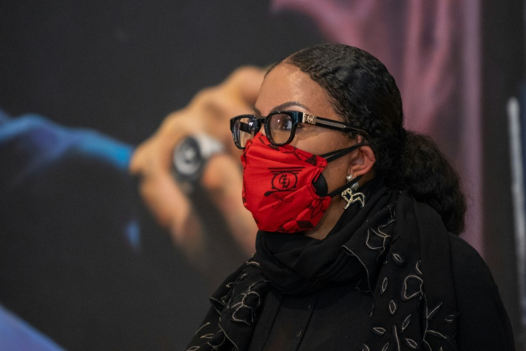 Malcolm X's daughter Ilyasah Shabazz, pictured Feb 20, 2021 during a press conference in New York, called for any new evidence in the case of her father's death to be