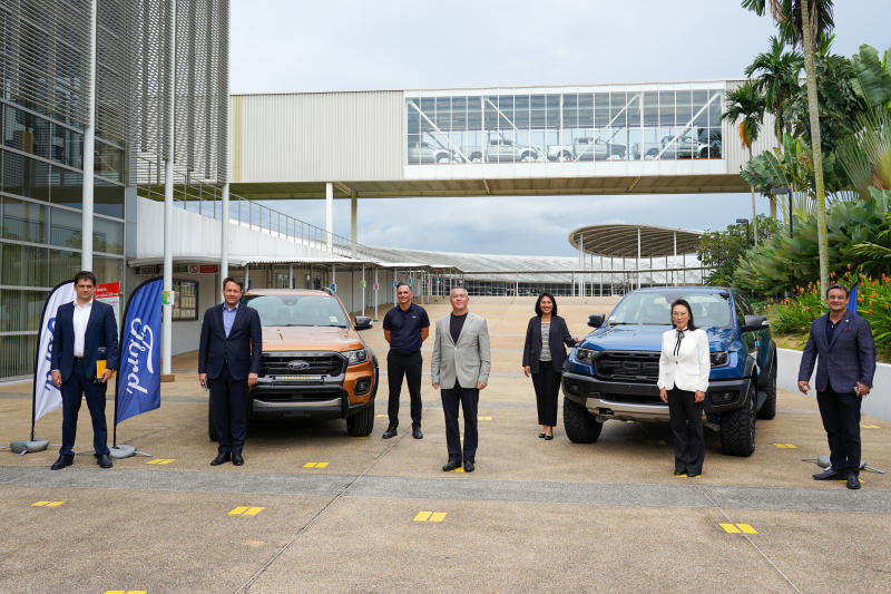 US Ambassador Michael DeSombre visits a Ford factory in Rayong in October 2020. (Photo supplied)