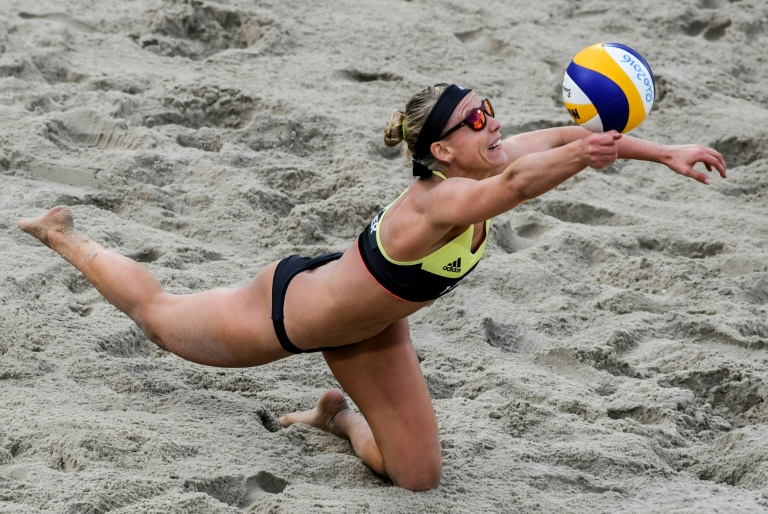 Karla Borger competing for Germany in the 2016 Olympics in Rio.