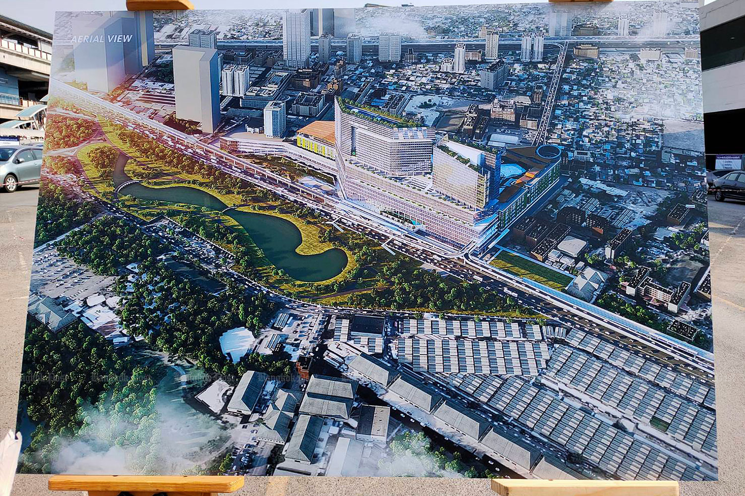 An artist's rendition of the Mo Chit Complex project, which is worth 26 billion baht.