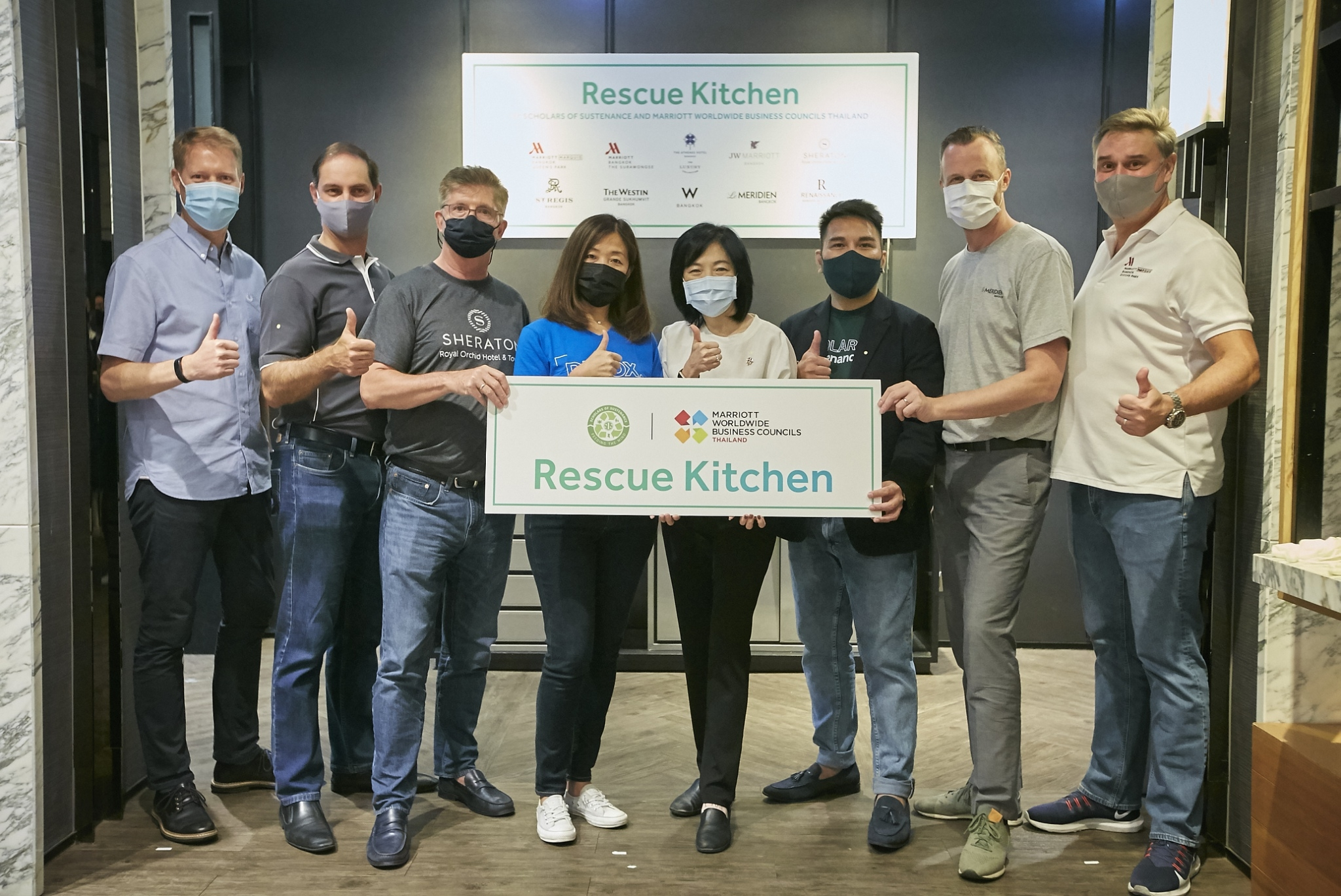 "MARRIOTT & SOS THAILAND SET UP ""MUTUAL RESCUE KITCHEN"" TO FEED FAMILIES IMPACTED BY THE COVID CRISIS IN BANGKOK"