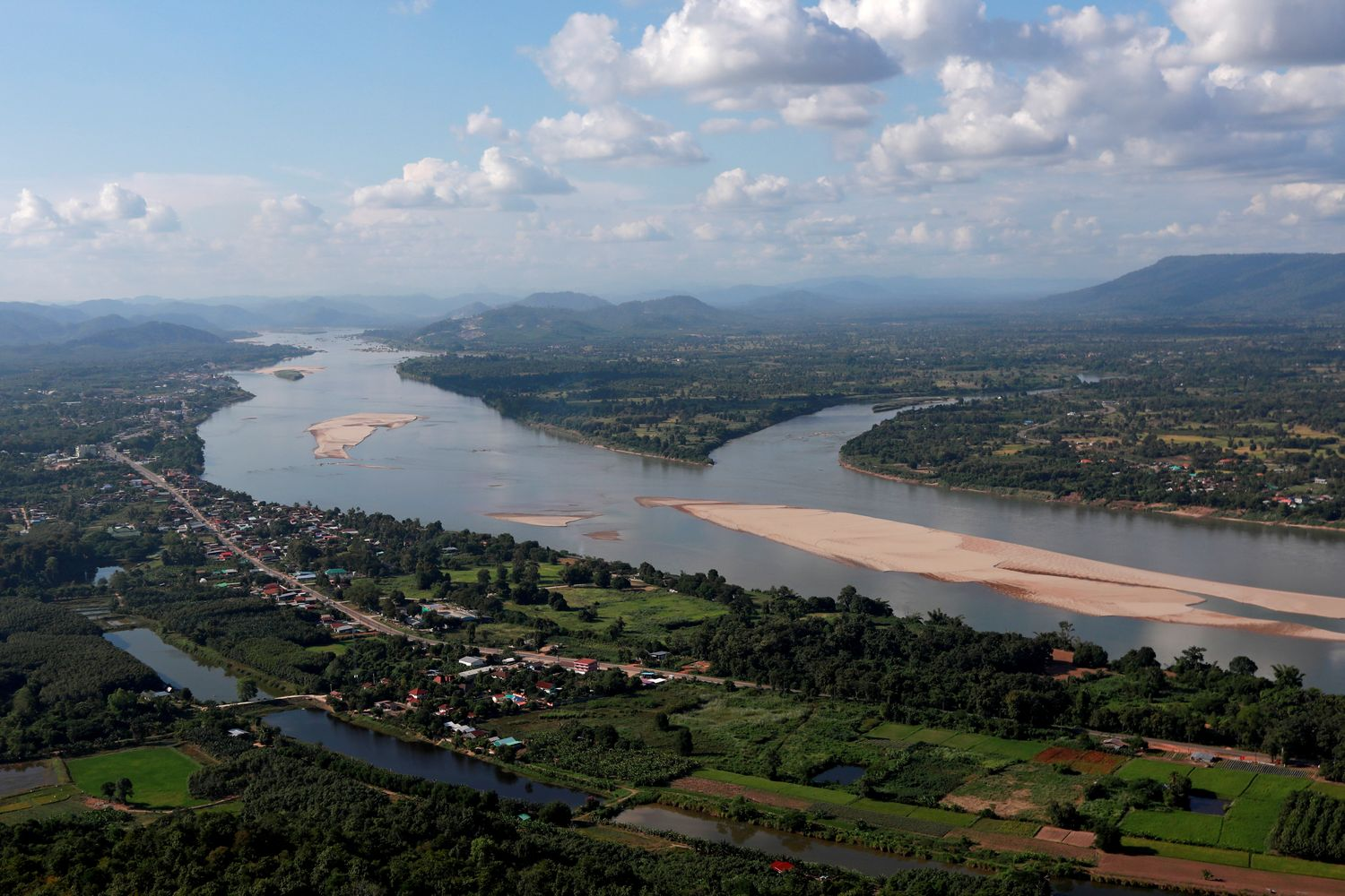 A view of the Mekong river bordering Thailand and Laos is seen from the Thai side in Nong Khai in October 2019. (Reuters photo)